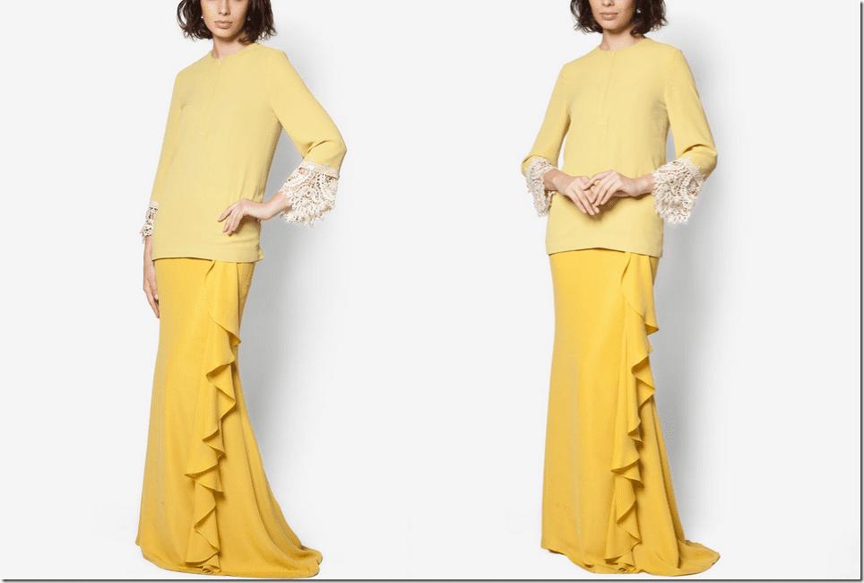 yellow-modern-baju-kurung