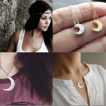 Fashionista NOW: Crescent Moon Necklace Jewelry Inspiration
