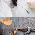 Fashionista NOW: Minimalist Tusk Pendant Necklace Jewelry Inspiration