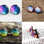 Fashionista NOW: Galaxy Style Stud Earrings Jewelry Inspiration