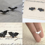 Fashionista NOW: Bat Stud Earrings Halloween Jewelry Inspiration