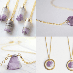 Fashionista NOW: Intoxicating Amethyst Crystal Necklace Jewelry Inspiration
