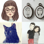 Fashionista NOW: Christmas Holiday Gift Idea ~ Personalized Portrait Artwork
