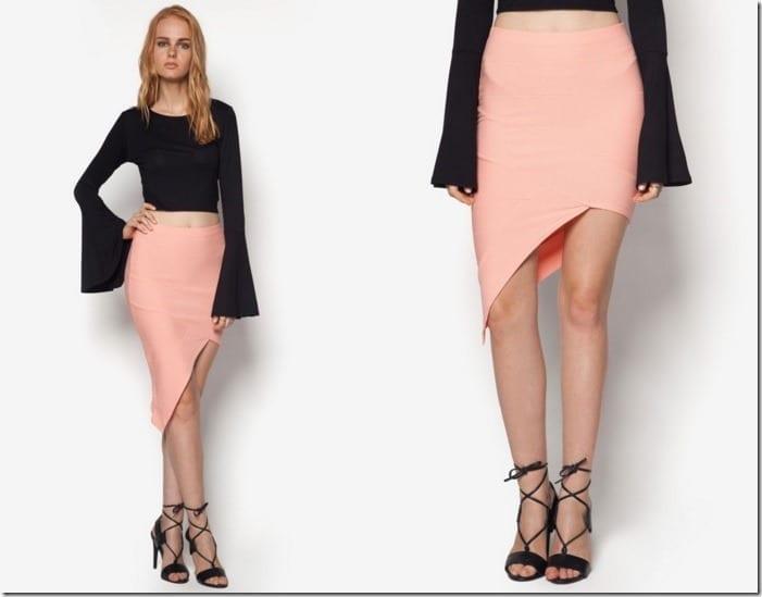 bandage-asymmetric-midi-skirt