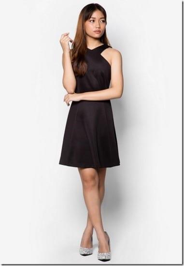 black-cross-front-dress