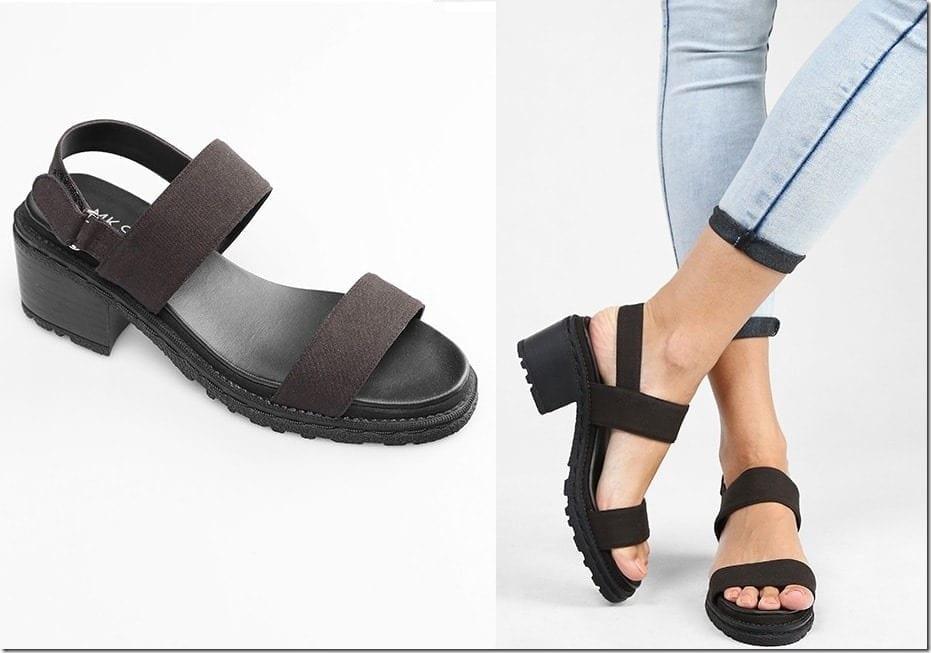 black-double-strap-sandals