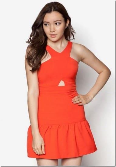 fiery-red-cross-neck-dress