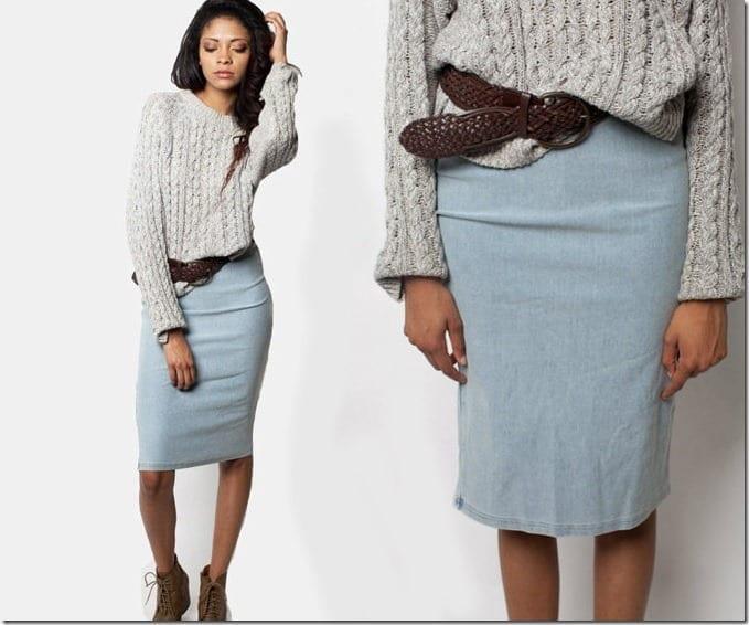 high-waist-denim-pencil-skirt