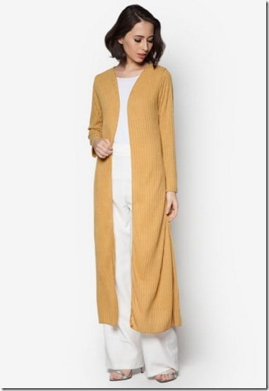 mustard-ribbed-long-cardigan
