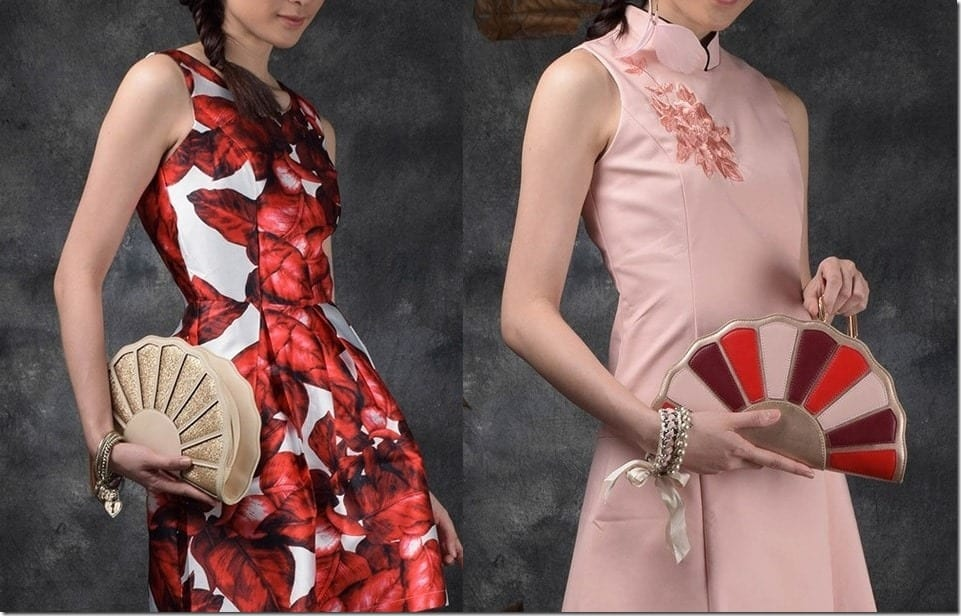 Oriental Fan Inspired And Chinese Brocade Clutch Statement For CNY 2016