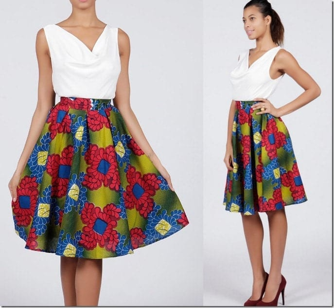 african-floral-skirt