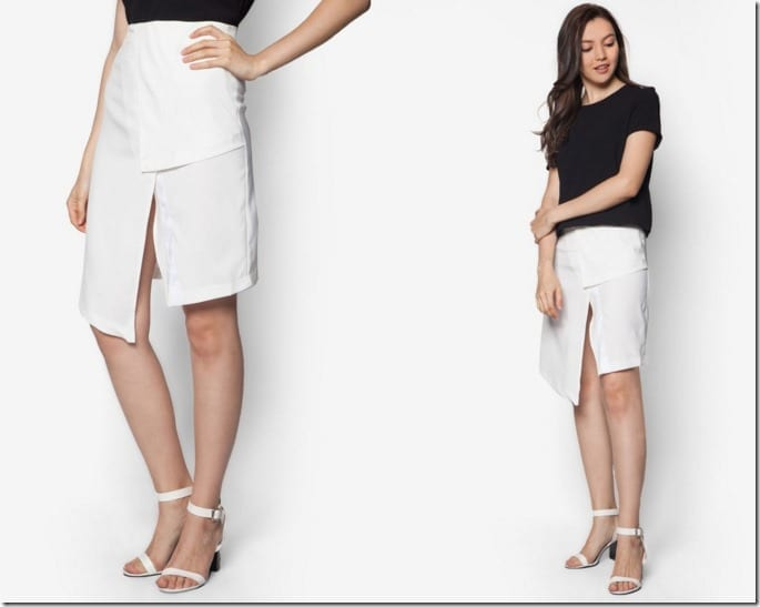 asymmetrical-front-slit-pencil-skirt