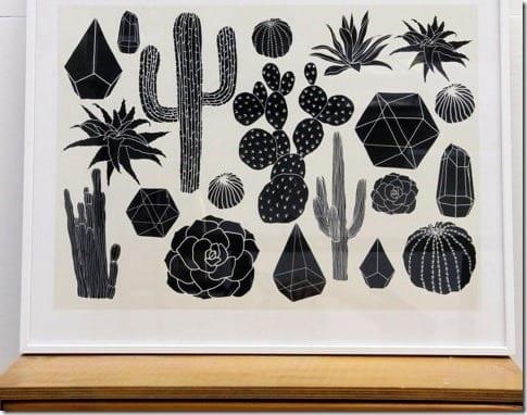 black-cactus-art