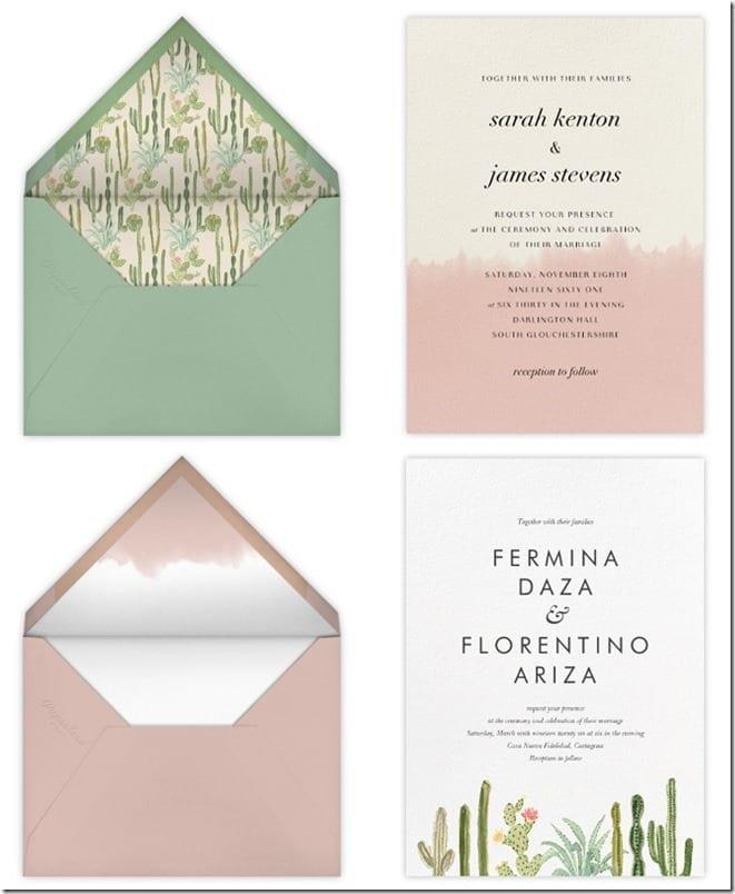 Chic Wedding Invitation Card Ideas
