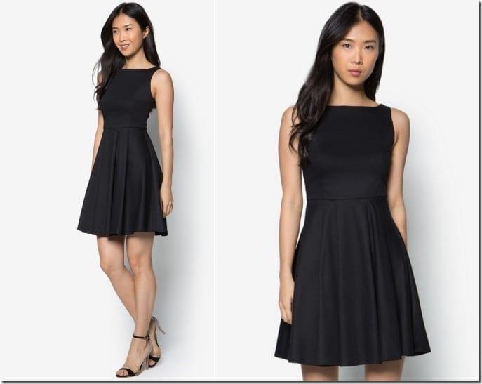 fit-flare-black-dress
