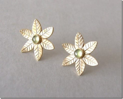 gemstone-flower-earrings