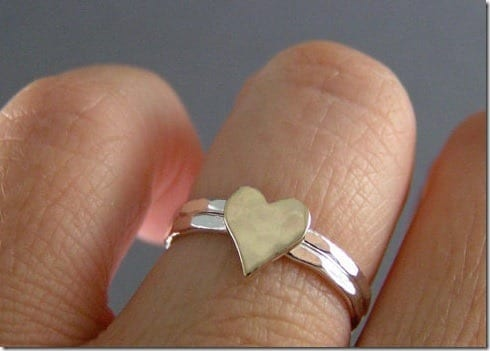hammered-heart-stack-ring