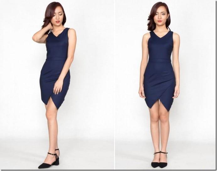 navy-asymmetric-dress