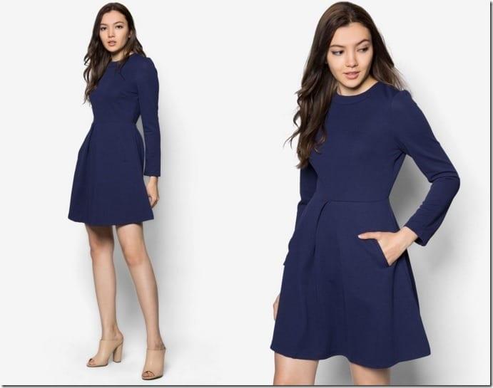navy-embossed-dress