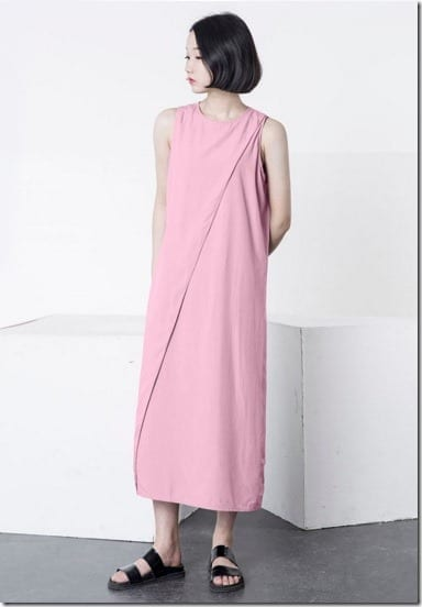 pink-side-slit-dress