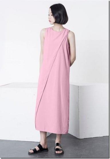 pink-side-slit-dress