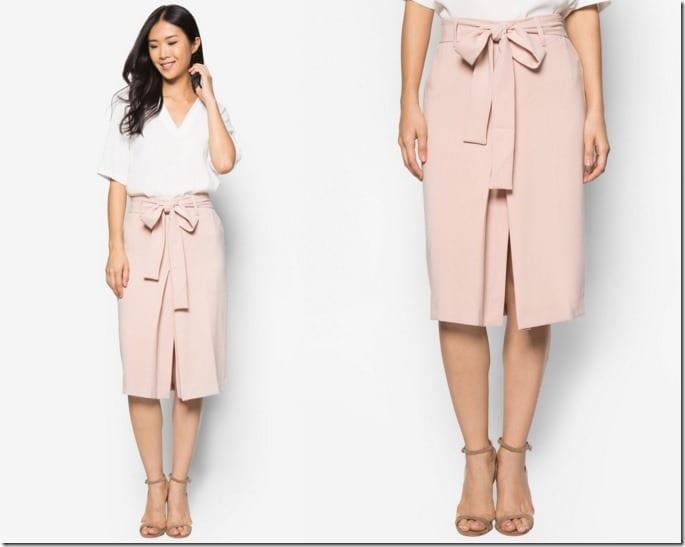 pink-vent-pencil-skirt
