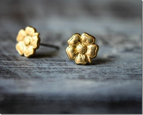 raw-brass-floral-earrings