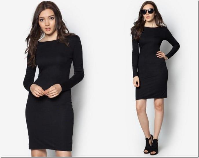 sleeve-black-minimal-dress