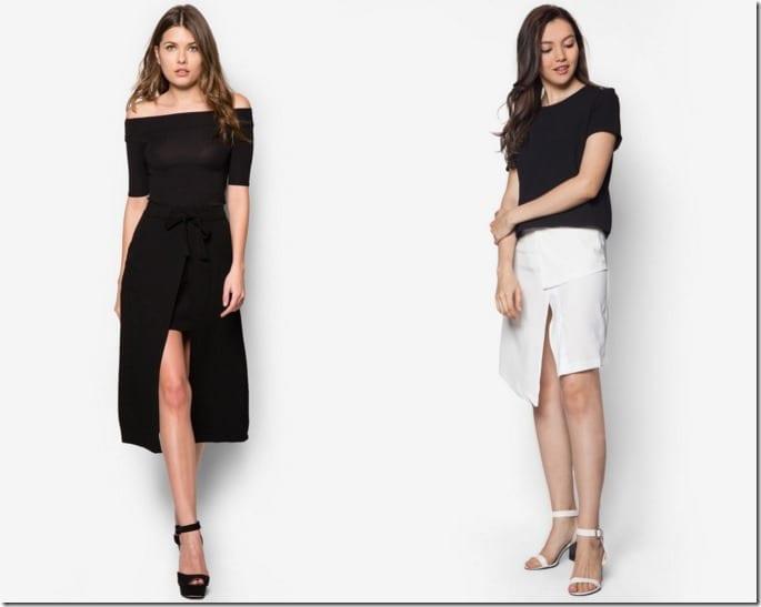 Hot Skirt Trend ~ 5 Slit Skirt Styles For Chic Leg Flashing