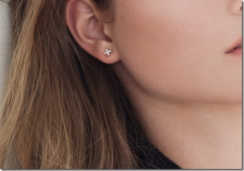 small-silver-x-stud-earrings