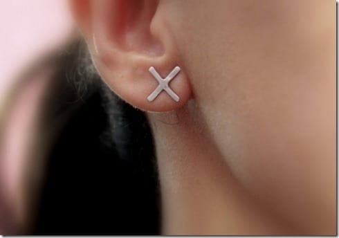 unisex-x-stud-earrings