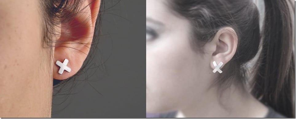 The X Stud Earrings Jewelry Inspiration
