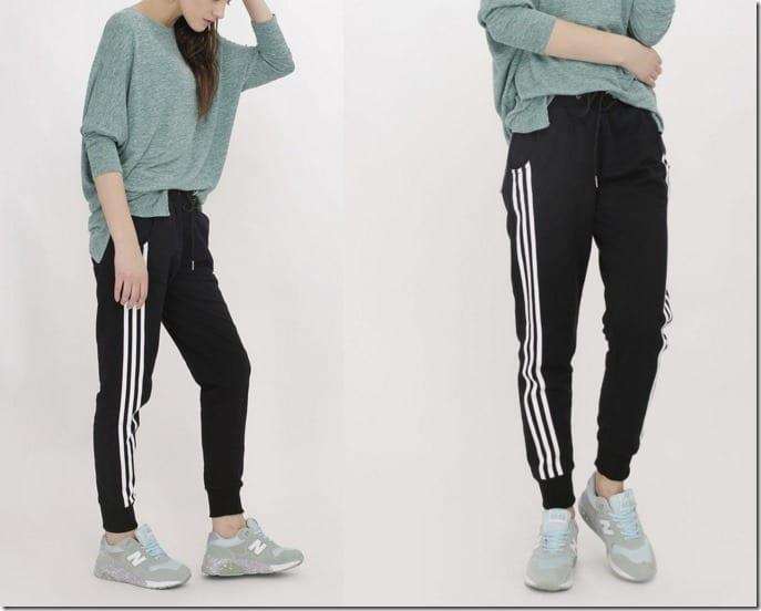 black-cotton-striped-joggers