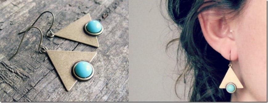 blue-brass-triangle-dangle-earrings