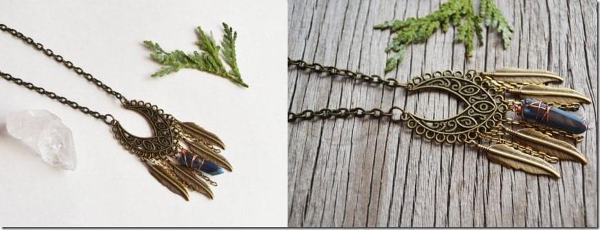 bohemian-quartz-feather-necklace