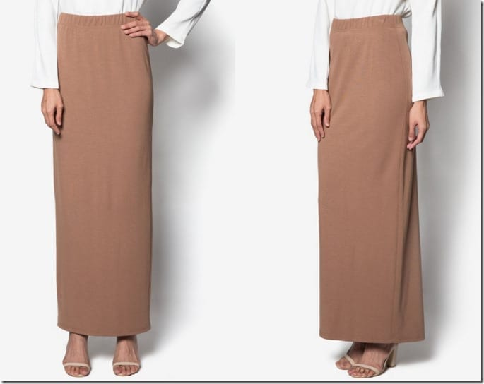 brown-maxi-pencil-skirt
