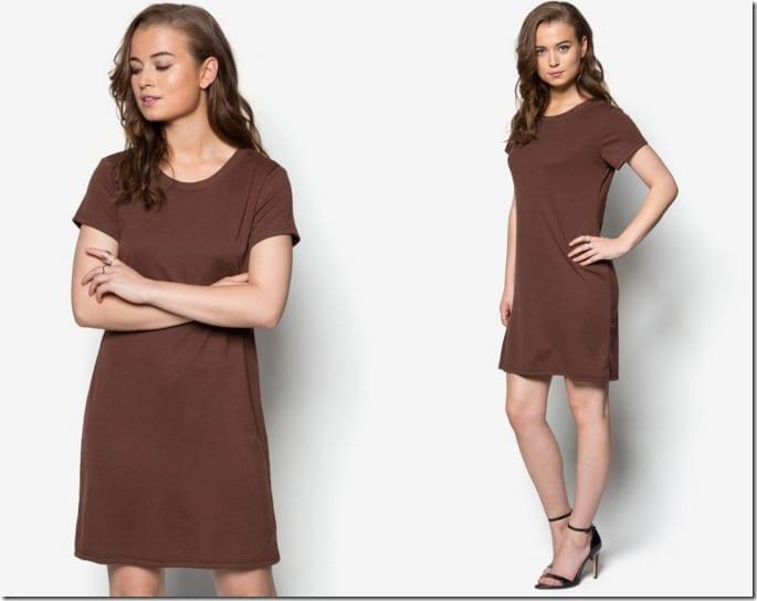 brown-tee-dress