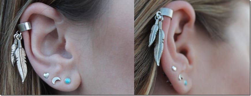 dangle-feather-ear-cuff