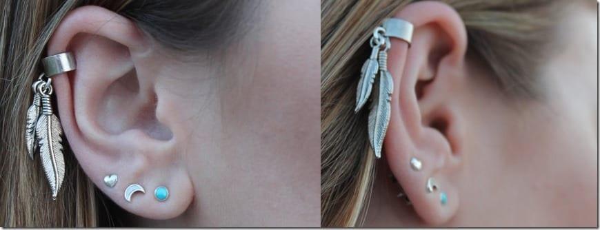 dangle-feather-ear-cuff