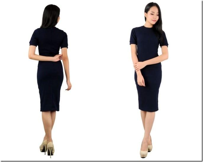 dark-blue-midi-dress