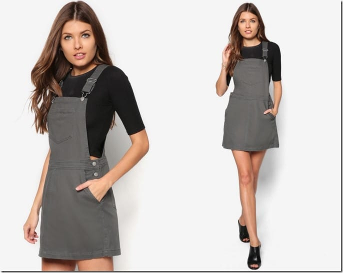 dark-khaki-pinafore-dress