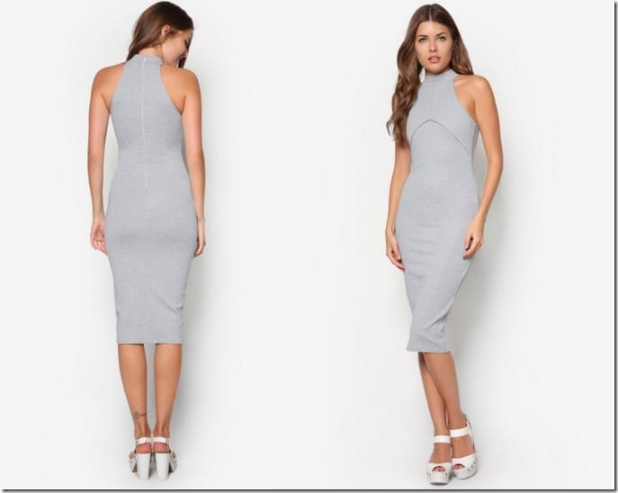 high-neck-grey-midi-dress