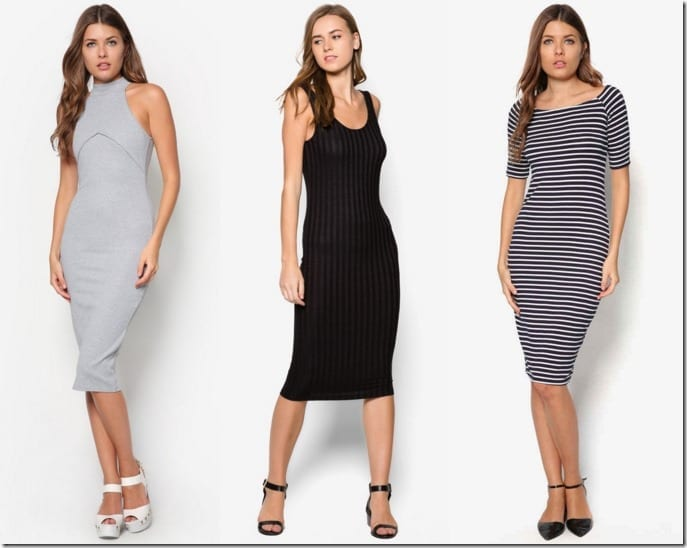 7 Midi Bodycon Dress Style Ideas