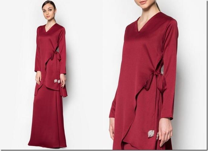 red-tie-waist-baju-kurung