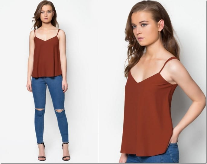 rust-vneck-cami-top