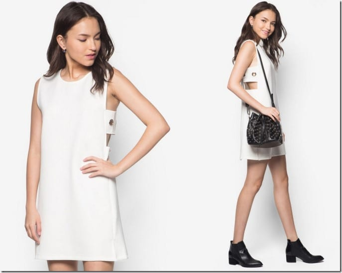 side-cutout-shift-dress