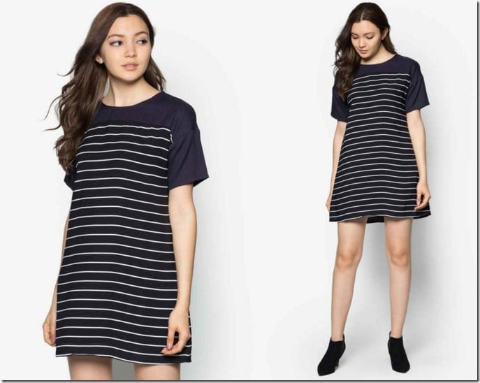 stripe-block-dress