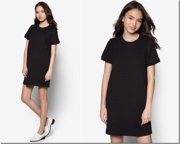 textured-shift-dress