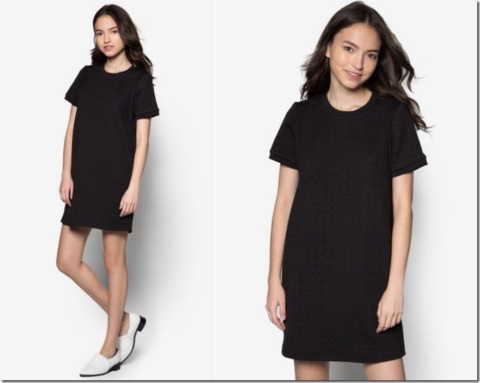 textured-shift-dress