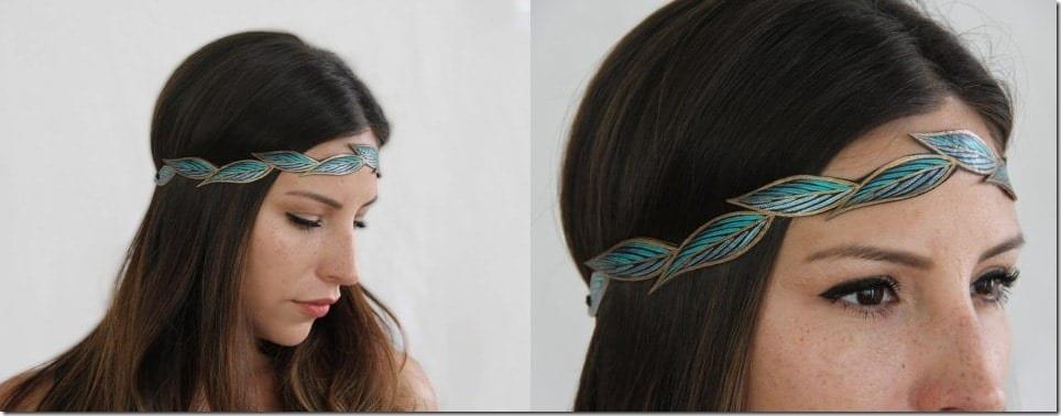 turquoise-boho-leaf-headband